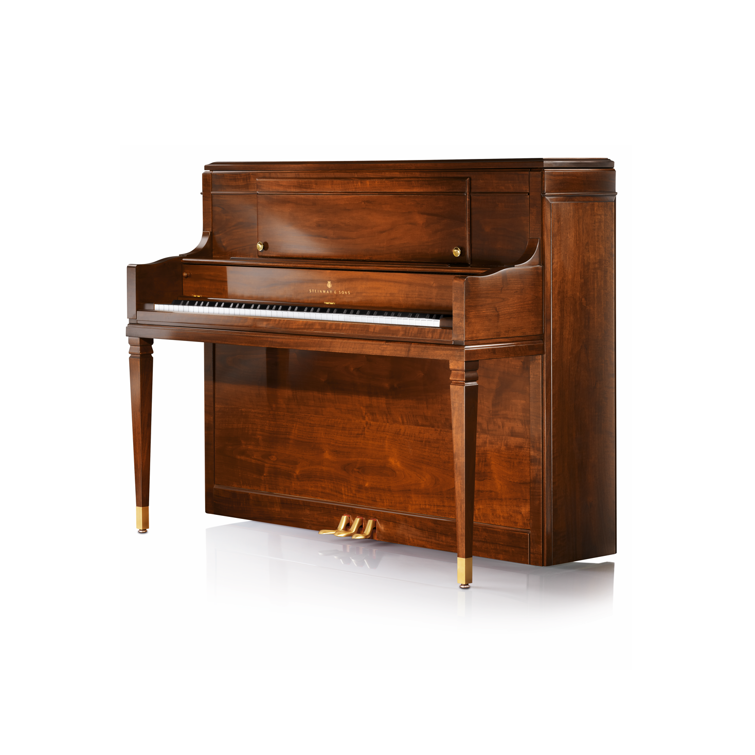 Steinway upright pianos steinway sons for Moderni piani a 4 piani